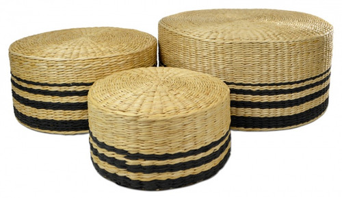 Natural/Black Seagrass Stool