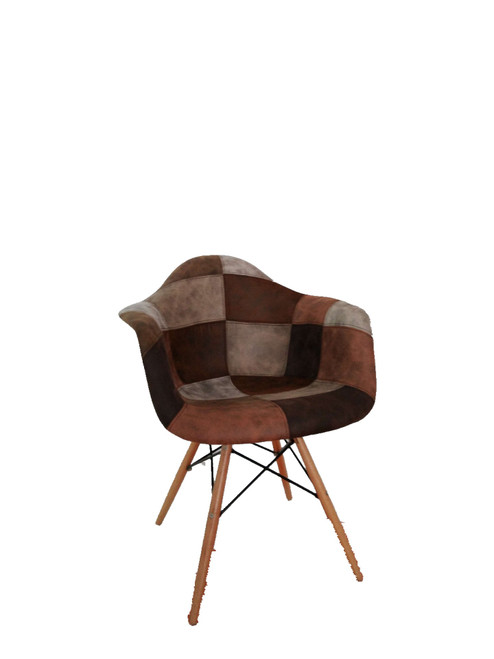 Square Pattern Beech Chair