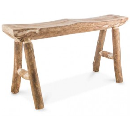 Malang 4 Leg Wood Stool 2 Seater