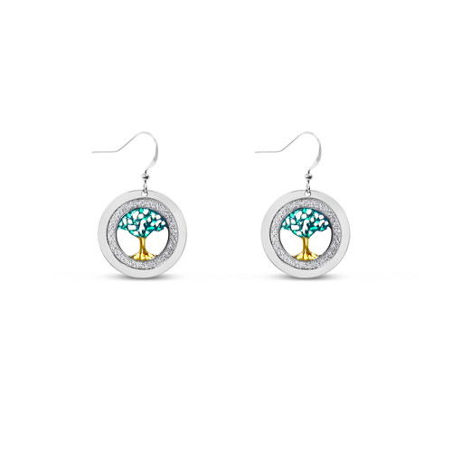 Coloured Tree of Life Earrings