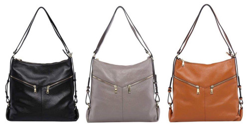 Kaylee Leather Convertible Bag/Backpack