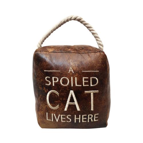 A Spoiled Cat Doorstop