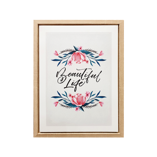 Beautiful Life Framed Canvas