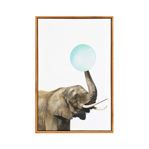 Elephant Bubble Framed Canvas