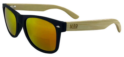 50/50 Black with Wooden Arms Sunglasses