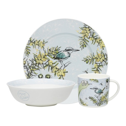 Wattle Crockery 3pc Set