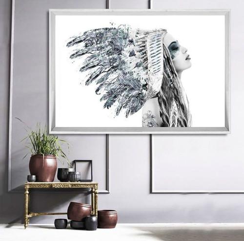Miss Grey Skies Framed Print