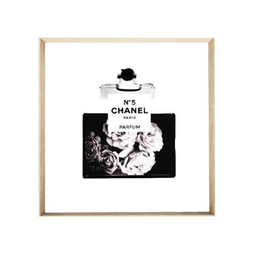 Chanel Floral Black 40x40cm