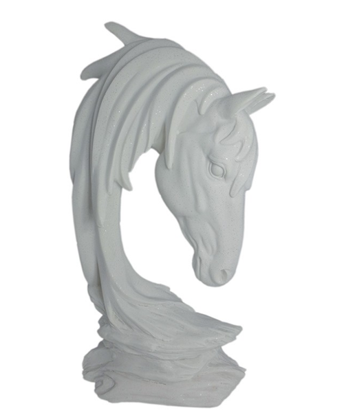 Horse Sculpture White 40CM