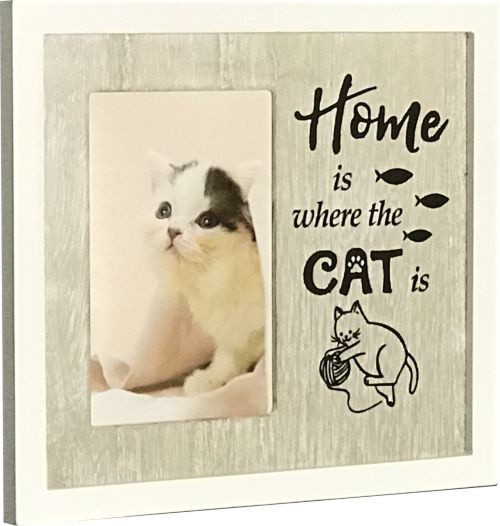 Home Is Where The Cat Is Photo Frame