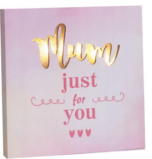 LED Mum Plaque