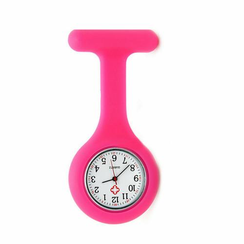 Plain Nurse Watch / Hot Pink