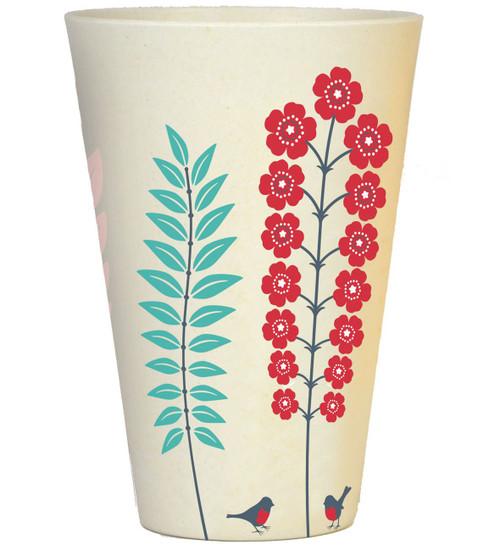 Bamboo Tumbler - 400ml - Spring Red