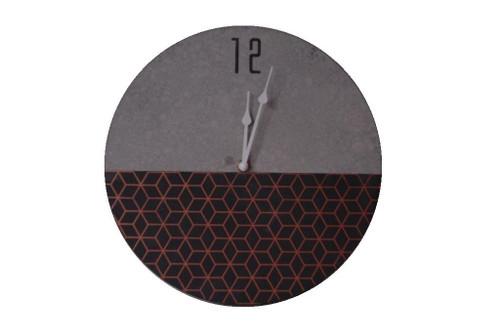 Half Cement Wall Clock 30cm