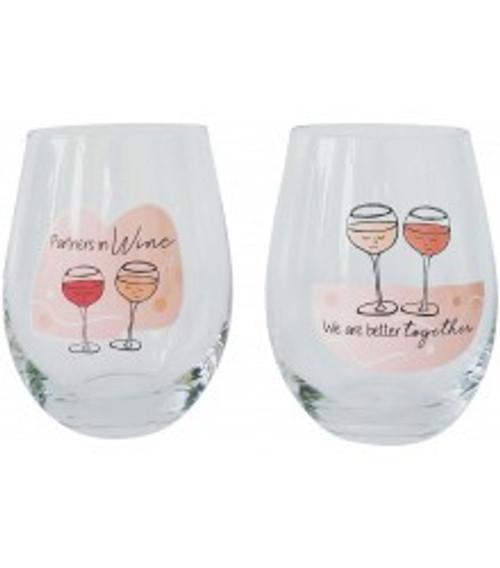 """Better Together"" Wine Glasses"