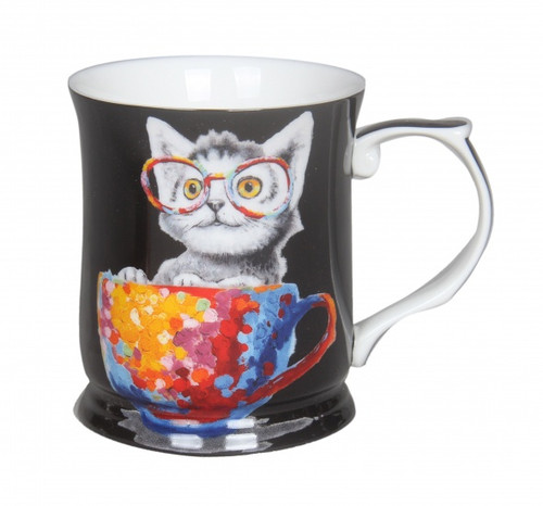 Cheeki Little Cat Mug Black