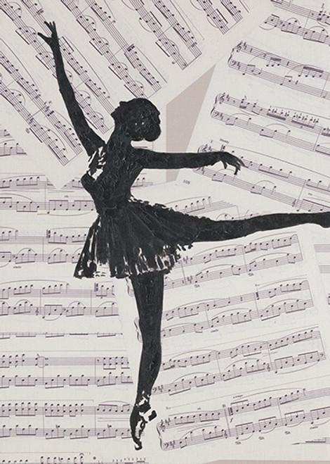 Ballerina Canvas Print 50x70cm