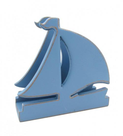 Blue Sailboat Napkin Stand