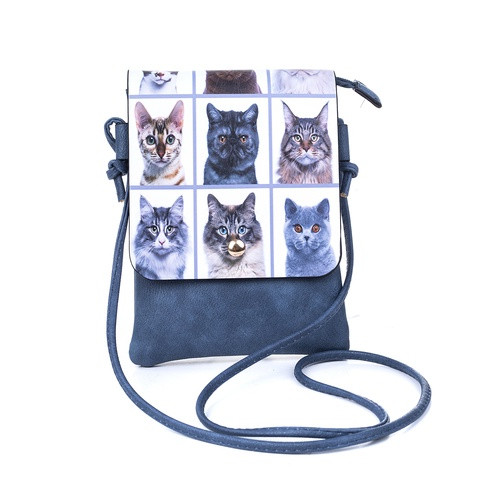 Cats Grid Flap Bag