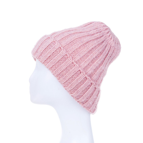 Wide Ribbed Beanie Pink