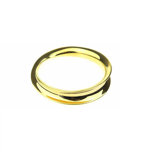 Curved Gold Bangle