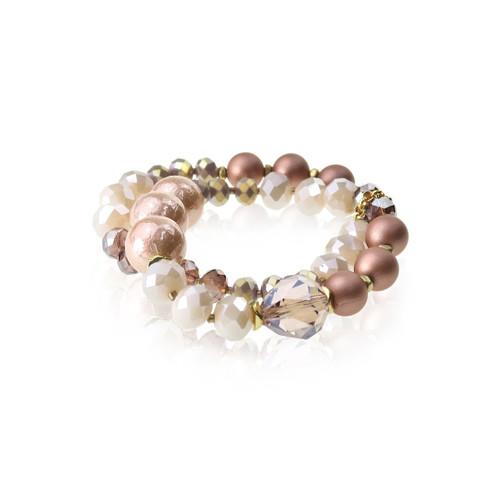 Double Row Mixed Bead Bracelet
