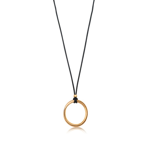 Open Circle Long Pendant Necklace
