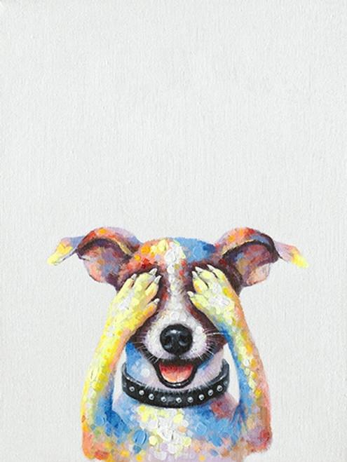 Hiding Dog Canvas Print