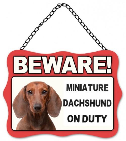Dachshund On Duty Plaque