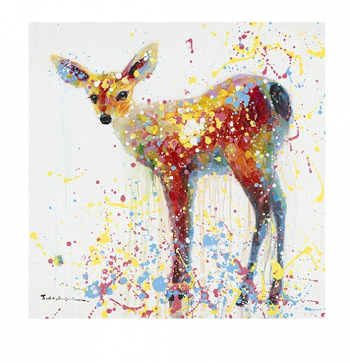 Colourful Deer Canvas Print