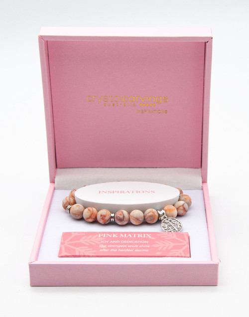 Pink Matrix Tree of Life Bracelet