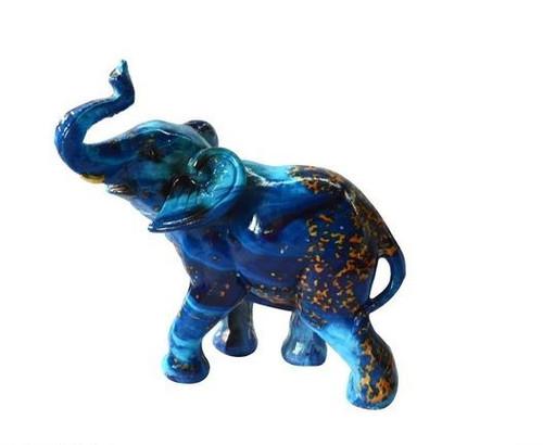 Blue Elephant Ornament