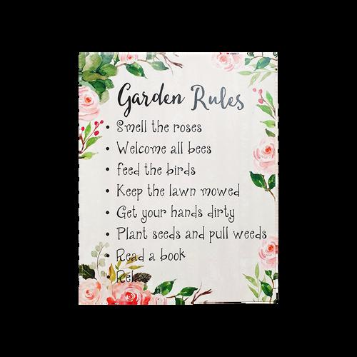Garden Rules Sign