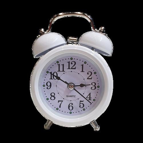 Vintage Alarm Clock White