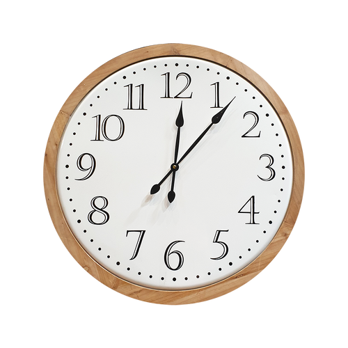 Tin & Wood Clock 60cm