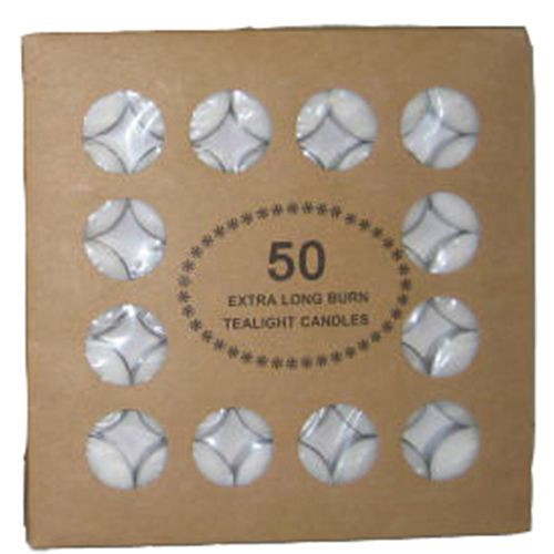Unscented Tealight Candles - Pack of 50