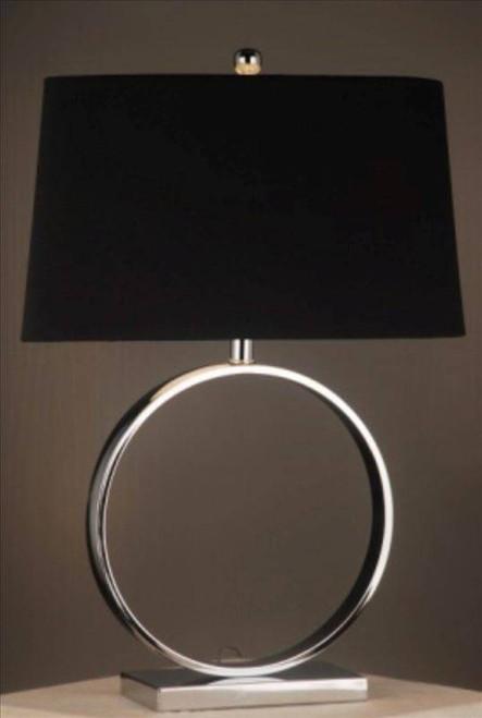 Silver Circle Lamp
