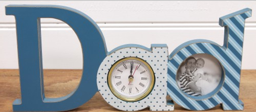 Dad Clock Blue