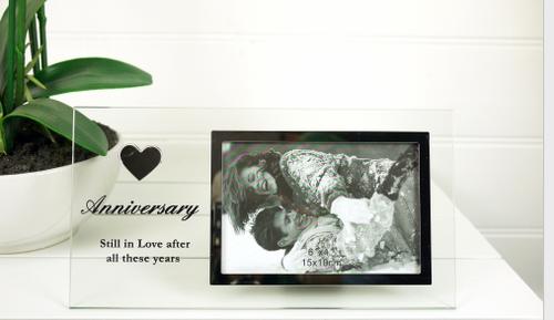Anniversary Glass Photo Frame