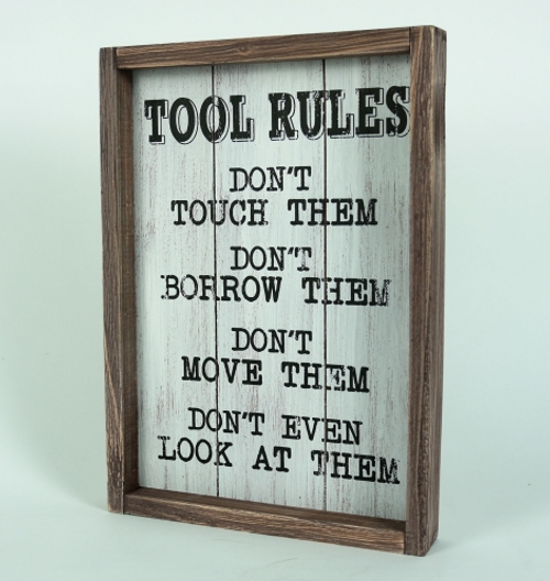 Tools Rules Sign
