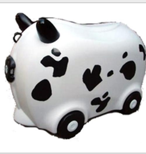 Kids Hard Luggage Case - Cow Pattern