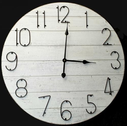 Minimal Iron Wall Clock 70cm