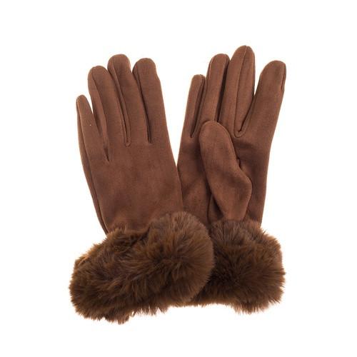 Grey Fluffy Gloves