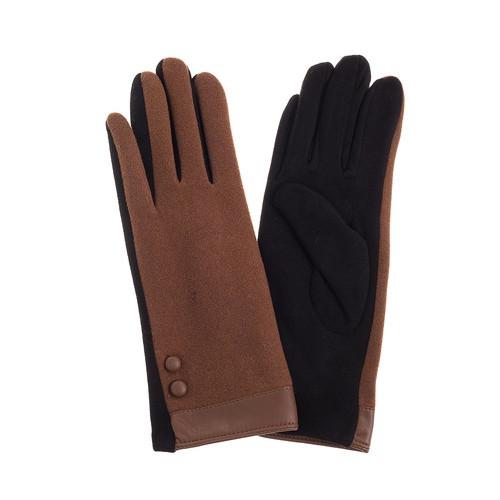 Caramel Felt Gloves