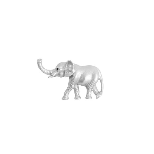 Silver Elephant Brooch