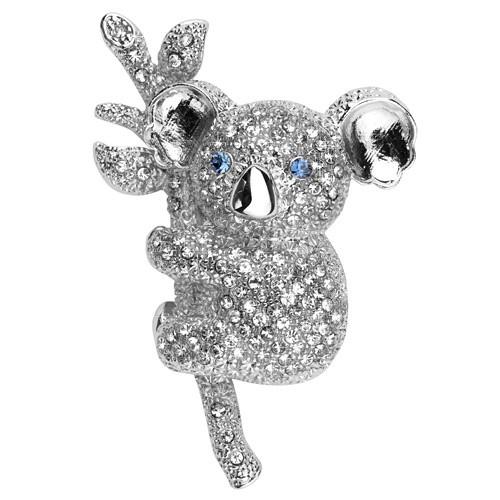 Crystal Koala Brooch