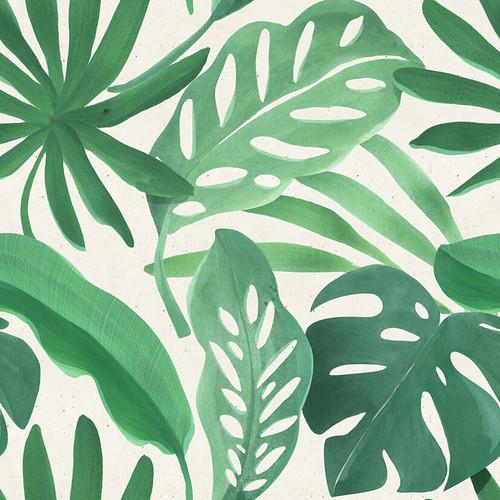 Palm Leaves Square Canvas