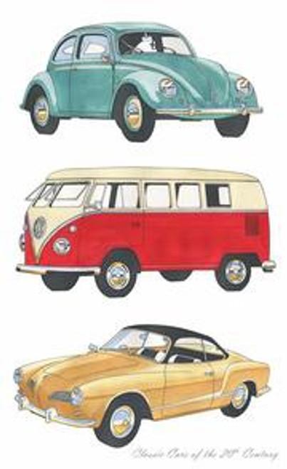 Classic Cars Volkswagon Tea Towel