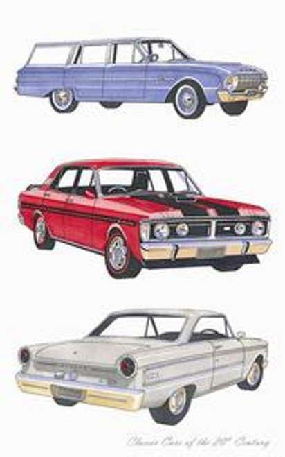 Classic Car Falcon Tea Towel