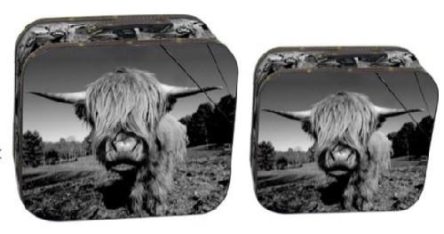 Highland Cow Suitcase